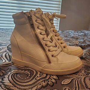 Shoe Dazzle Shoes | Kailani White Wedge